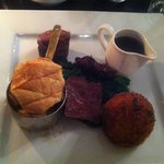 Lovely presentation- lacking in flavour. The venison