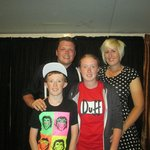 My 2 children with the entertainers Liam and Kim