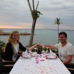 Our honeymoon table at Ozfor.