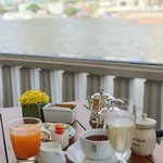 champagne breakfast at the riverside terrace