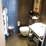 Small but very nice bathroom.