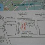 ホテルの地図です。