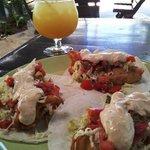 Fish Tacos with Jumbo Margarita