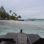 View from overwater bungalow deck