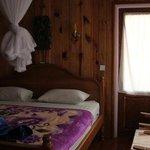 bedroom (and door to small balcony)