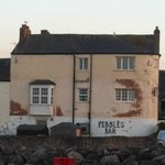 View of Pebbles Tavern from the Harbour. The entrance is on the other side! It's such a cosy pla