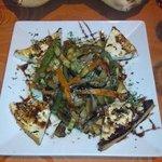 Wok de Verduras con queso de cabra!
