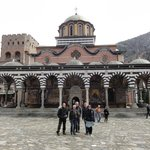 The group in front of Rila monastery