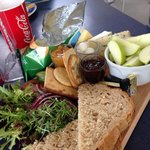 Fantastic 3 cheese ploughman's £4.95 bargain and really nicely presented.