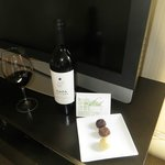 Wine and truffles upon arrival
