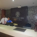 Hotel Front Desk and Luis the Manager