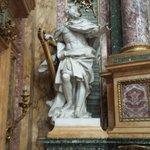 David re d'Israele scolpito da J.A.Lebrun nel transetto destro