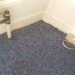 Dust example in cupboard of hotel room
