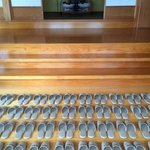 House slippers awaiting visitors