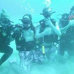 Diving the wreck El Aguilla