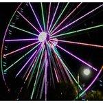 night view of skywheel