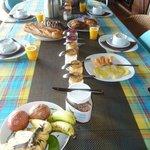 petit déjeuner très copieux!