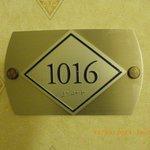 numéro de notre chambre
