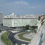 View over Praca Marquis de Pombal to HF Fenix Hotel