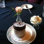 Their famous Chocolate Souffle is delicious!