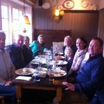 Happy diners at The Drum