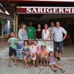"""The """"Dalyan mudbath"""" posse after a wonderful day out with Zaza (positioned between the two wee-o"""