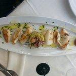 Antipasto calamari e patate