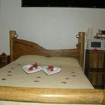 cama habitacion congo, parte de la decoración