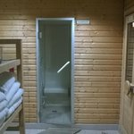 Sauna to warm up 20 minutes before