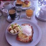 Lovely breakfast on a Monday morning
