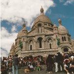 Stufen vor Sacré Coeur
