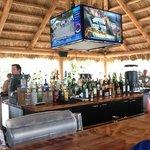 Inside Tiki bar