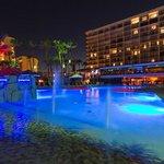 Nighttime Pool Area