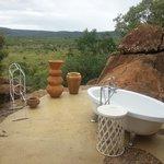 Outside bath honeymoon suite
