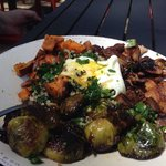 Vegetable bowl with fried egg. One of the best things we've ever eaten.