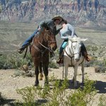 Horse Back Kiss on our AMAZING West Rim ride.