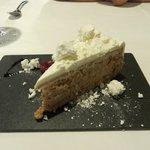 The complementary tiramasu dessert was nice
