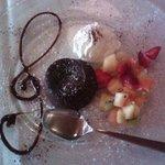 ottimo  tortino al forno con cuore di cioccolato