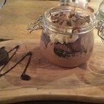 Decadent Oreo Jar dessert.  Fantastic food at The George Inn.
