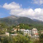 Panorama dal giardino del b&b
