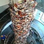 A Book Tower with books about Abraham Lincoln