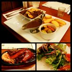 Gorgeous Homemade Steak & Ale Pie and Sizzling King Prawn with Rump Steak ^_^