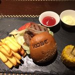 Kobe beef burger with goose liver