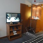 tv and refreshments area