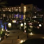 The hotel at night
