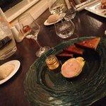 Menu cena. Paté foie gras.