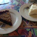 Cinnamon blueberry and coconut cream pies