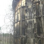 Rustic silo outside window