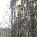 Rustic silo outside window