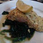 Feta Crusted Salmon.